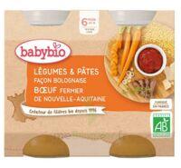 Babybio Pot Légumes Pâtes Bolognaise Boeuf à Mimizan