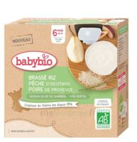 Babybio Gourde Brassé Riz Pêche Poire à Mimizan