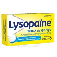 LysopaÏne Comprimés à Sucer Maux De Gorge Sans Sucre 2t/18 à Mimizan