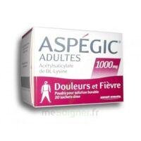 ASPEGIC ADULTES 1000 mg, poudre pour solution buvable en sachet-dose 20 à Mimizan
