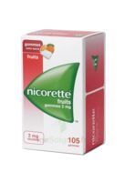 NICORETTE 2 mg Gom à mâcher médic sans sucre fruits Plq/105 à Mimizan