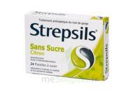 STREPSILS CITRON SANS SUCRE, pastille édulcorée à l'isomalt, au maltitol et à la saccharine sodique à Mimizan