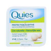 QUIES PROTECTION AUDITIVE CIRE NATURELLE 8 PAIRES à Mimizan