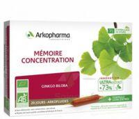 Arkofluide Bio Ultraextract Solution buvable mémoire concentration 20 Ampoules/10ml à Mimizan
