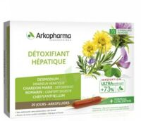 Arkofluide Bio Ultraextract Solution Buvable Détoxifiant Hépatique 20 Ampoules/10ml