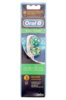 BROSSETTE DE RECHANGE ORAL-B DUAL CLEAN x 3 à Mimizan