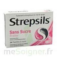 Strepsils Fraise Sans Sucre, Pastille édulcorée à L'isomalt, Au Maltitol Et à La Saccharine Sodique à Mimizan