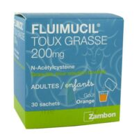 FLUIMUCIL EXPECTORANT ACETYLCYSTEINE 200 mg SANS SUCRE, granulés pour solution buvable en sachet édulcorés à l'aspartam et au sorbitol à Mimizan