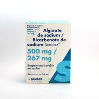 ALGINATE DE SODIUM/BICARBONATE DE SODIUM SANDOZ 500 mg/267 mg, suspension buvable en sachet à Mimizan
