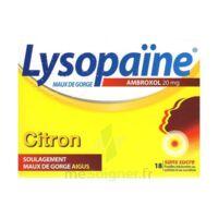 LYSOPAÏNE MAUX DE GORGE AMBROXOL CITRON 20 mg SANS SUCRE, pastille édulcorée au sorbitol et au sucralose à Mimizan