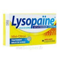 LYSOPAÏNE MAUX DE GORGE CETYLPYRIDINIUM LYSOZYME MIEL CITRON SANS SUCRE, comprimé à sucer édulcoré au sorbitol et à la saccharine à Mimizan