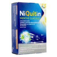NIQUITIN 2 mg Gom à mâcher médic menthe glaciale sans sucre Plq PVC/PVDC/Alu/30 à Mimizan