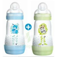 MAM BIBERON EASY START anti-colique 260 ml lot de 2_ BLEU & VERT à Mimizan
