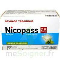 Nicopass 2,5 Mg Pastille Menthe Fraîcheur Sans Sucre Plq/96 à Mimizan