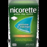 Nicorette 2 mg Gomme à mâcher médicamenteuse sans sucre fruits Plq/30 à Mimizan