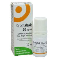 CROMABAK 20 mg/ml, collyre en solution à Mimizan