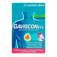 GAVISCONELL Suspension buvable sachet-dose menthe sans sucre 12Sach/10ml à Mimizan