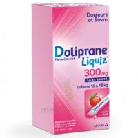 Dolipraneliquiz 300 mg Suspension buvable en sachet sans sucre édulcorée au maltitol liquide et au sorbitol B/12 à Mimizan