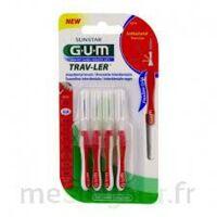 GUM TRAV - LER, 0,8 mm, manche rouge , blister 4 à Mimizan
