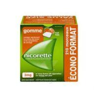 Nicorette 2 Mg Gomme à Mâcher Médicamenteuse Sans Sucre Fruits Plq/210 à Mimizan