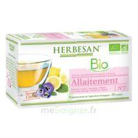Herbesan Infusion Bio Tisane allaitement 20 Sachets à Mimizan