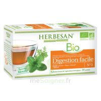 Herbesan Infusion Bio Tisane Digestion Facile 20 Sachets à Mimizan