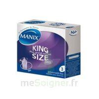 Manix King Size Préservatif avec réservoir lubrifié confort B/3 à Mimizan