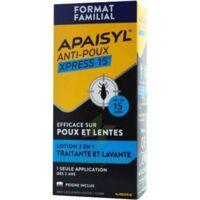 Apaisyl Anti-poux Xpress 15' Lotion Antipoux Et Lente 200ml+peigne à Mimizan