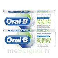 Oral B Gencives Purify Dentifrice 2*T/75ml à Mimizan