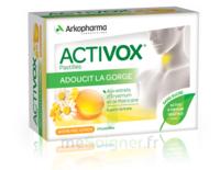 Activox Sans Sucre Pastilles Miel Citron B/24 à Mimizan