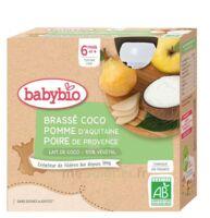 Babybio Gourde Brassé Lait De Coco Pomme Poire à Mimizan