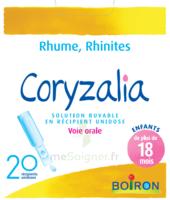 Boiron Coryzalia Solution buvable unidose B/20 à Mimizan